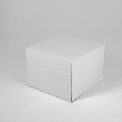 Mesita de centro en cartón para homestaging en españa