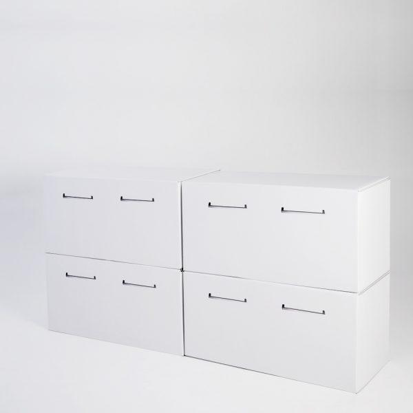 Mueble bajo de cartón grande