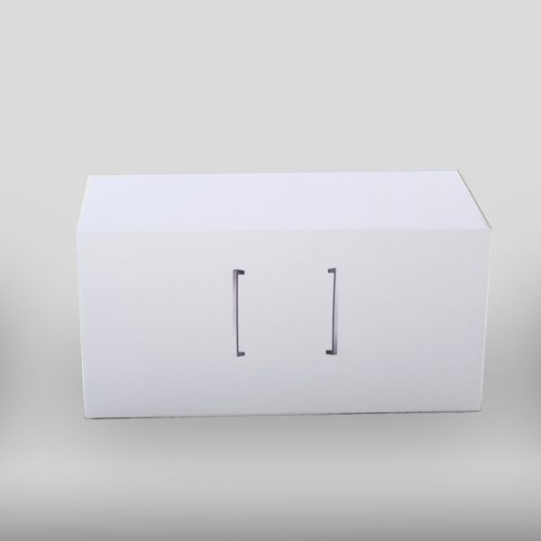 Mueble de televisión en cartón para homestaging fabfricado en España