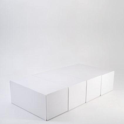 Cama individual sin cabecero de cartón