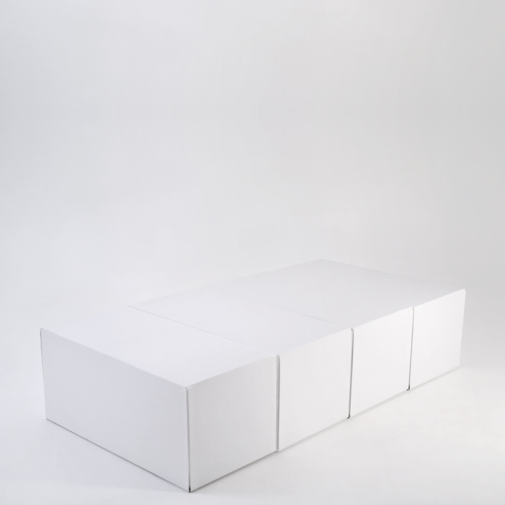 Cama individual sin cabecero de cartón 90cm