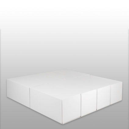 Cama de matrimonio sin cabecero de cartón