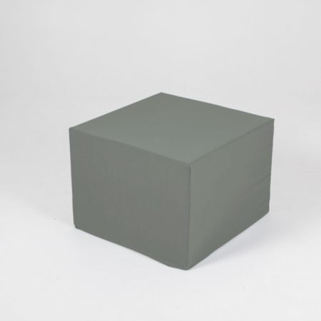 Puf de cartón con funda