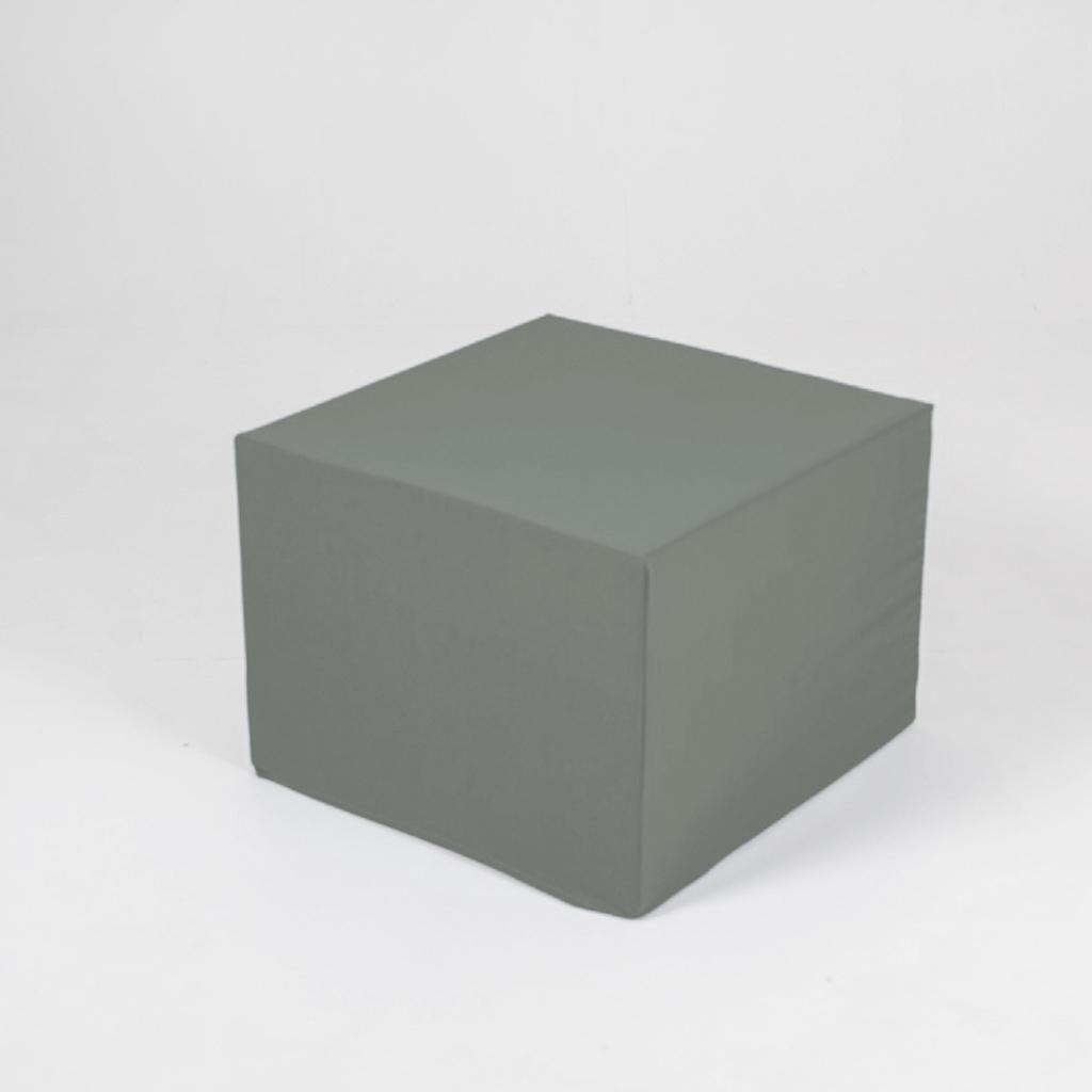 Puff de cartón con funda