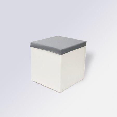 taburete con funda-gris