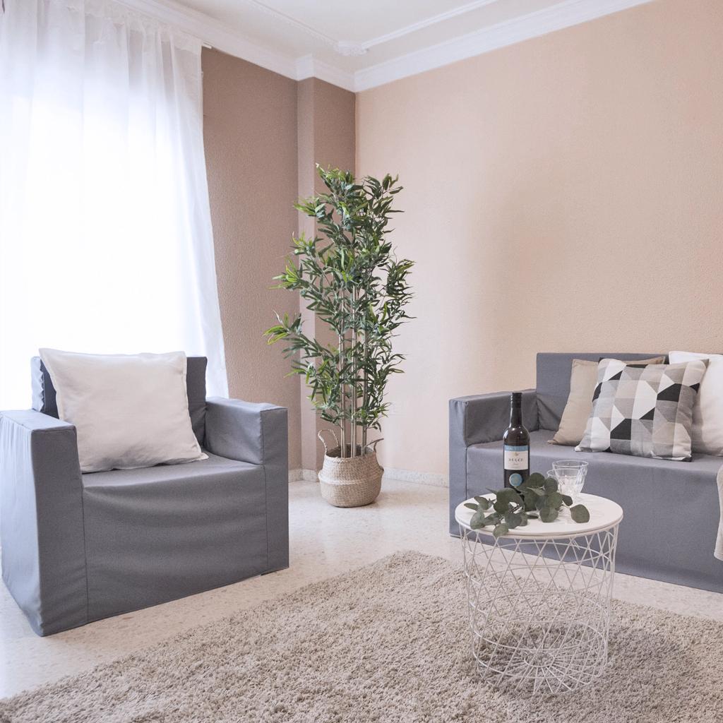Salón de cartón para Home Staging