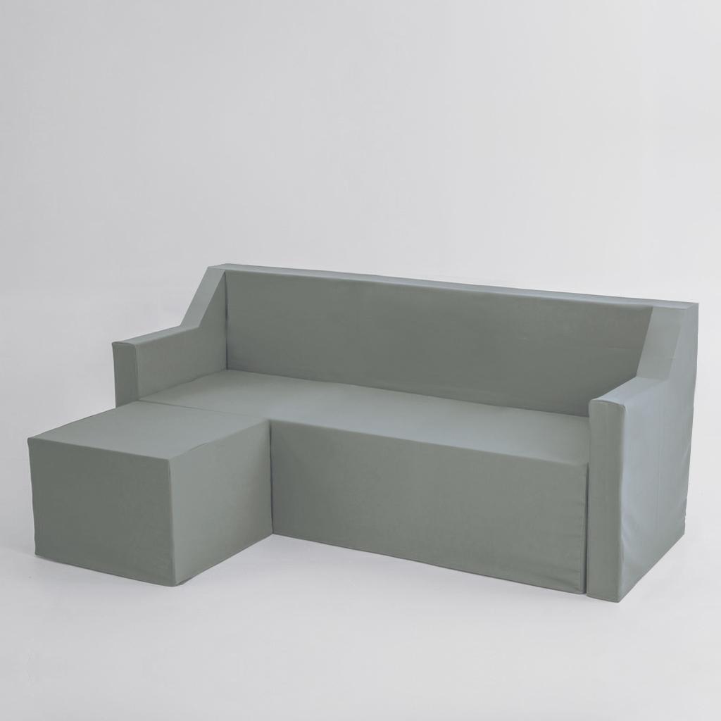 La funda para sofá chaise longue de tres plazas