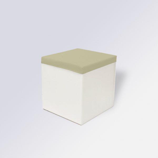 Housse de tabouret-beige