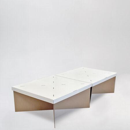 Cama individual sin cabecero de cartón 80cm