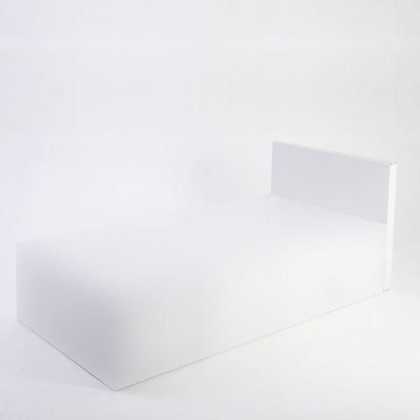 Lit une place avec tête de lit
