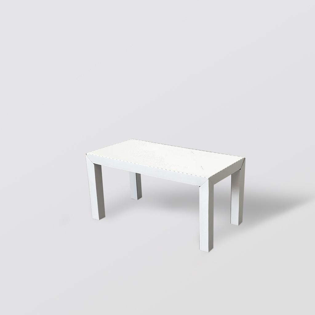 Mesa de centro de cartón con patas