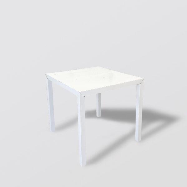 Mesa cuadrada de comedor en cartón